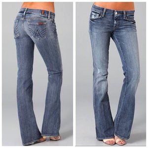 7FAM Grey A Pocket Bootcut Jeans